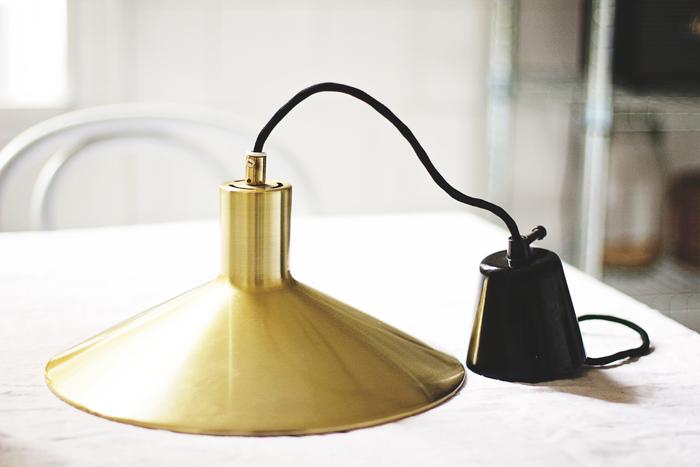Mässingslampa